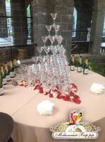 Пирамида из бокалов шампанского. Горка из бокалов. Цена от 6900