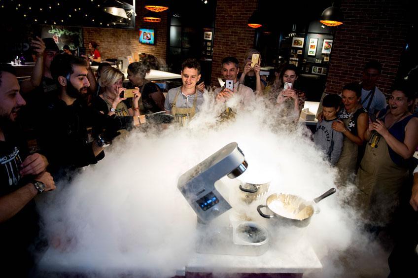 Жидкий азот в кулинарии